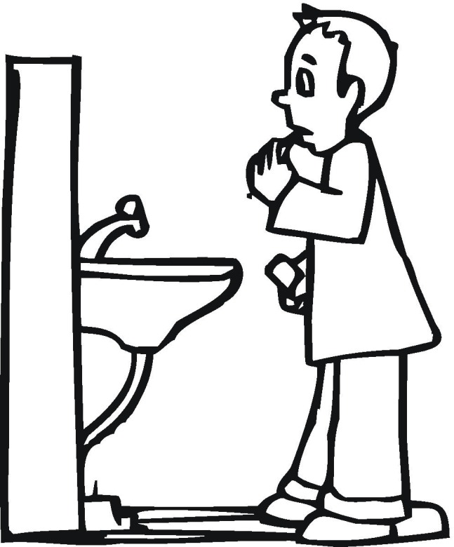 boy brushing teeth coloring pages - photo#16