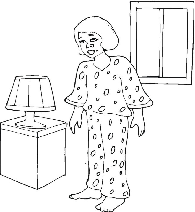pajama theme coloring pages - photo#15