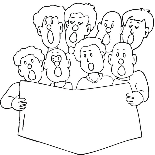 free church choir coloring pages - photo#8