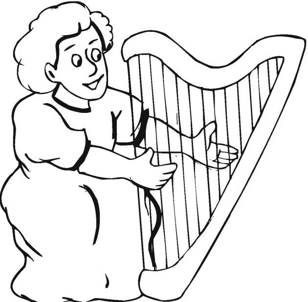 harp coloring pages - photo#24