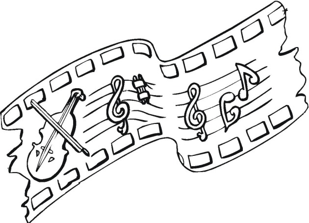 Free Coloring Pages Of Musical Border