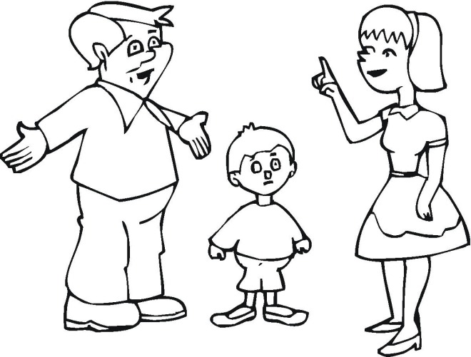 free online family coloring pages - photo#41