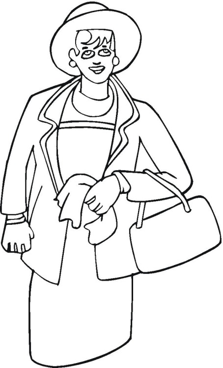coloring pages of women - photo#4