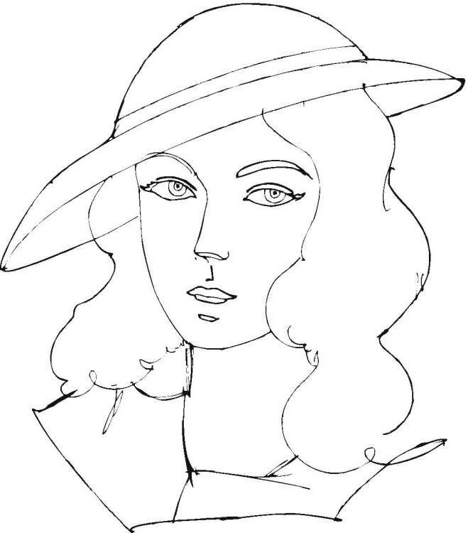 coloring pages of women - photo#5