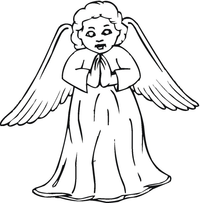 free coloring pages of angel by number