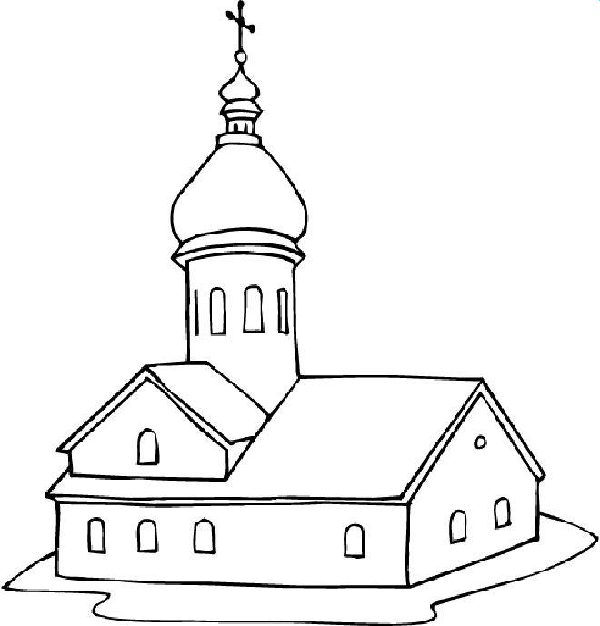 Churches colouring pages