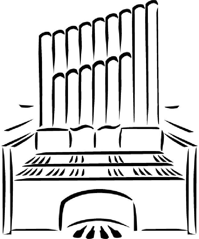 Organ Coloring Pages Kidsuki