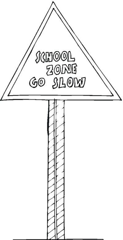 safety signs coloring pages - photo #14