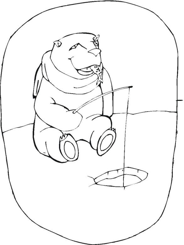 Free winter coloring pages for Winter animal coloring pages