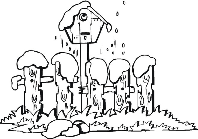 free winter scenes coloring pages - photo#24