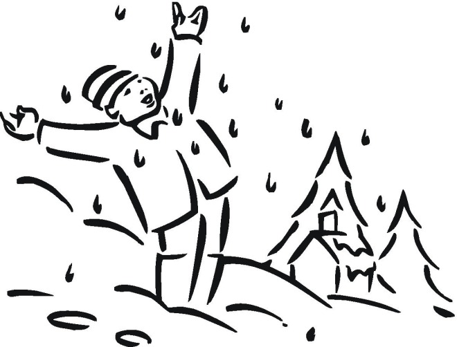 winter boy coloring pages - photo#24