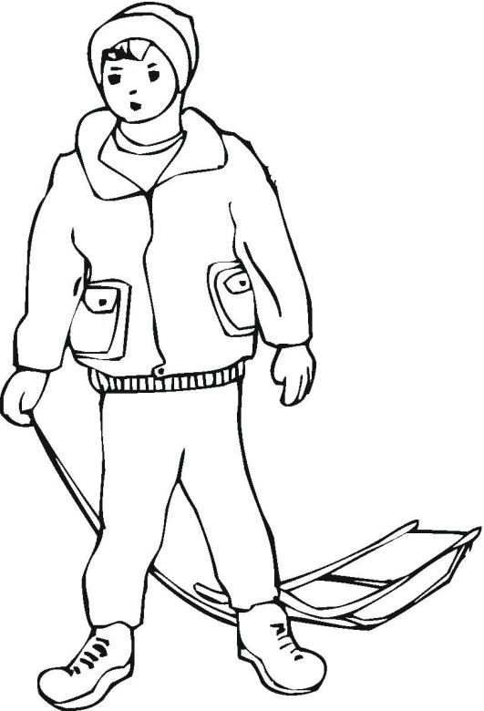 winter boy coloring pages - photo#8