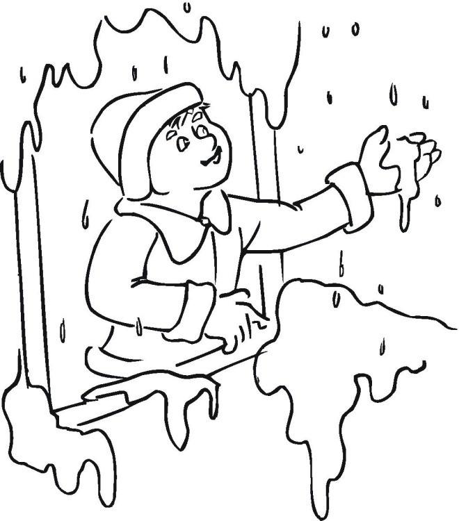 winter boy coloring pages - photo#23