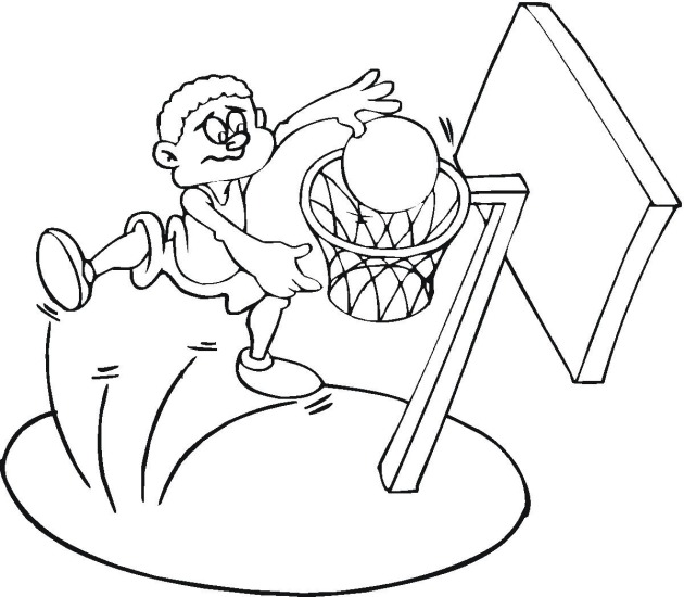 Basketball Coloring Picture Player Shooting Ball 4