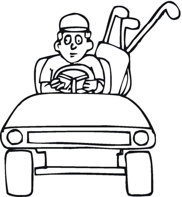 golf printable coloring pages - photo#16