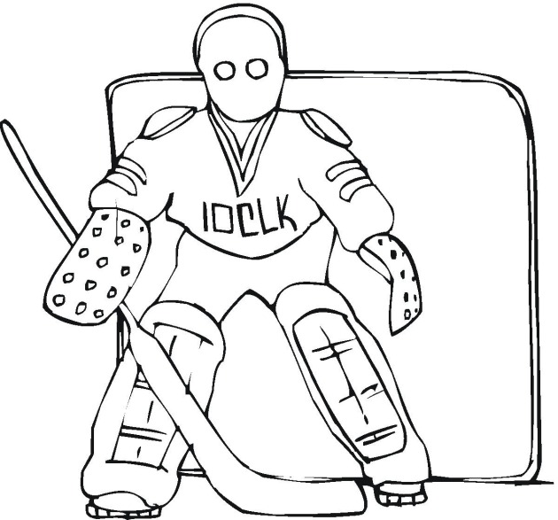 free coloring hockey pages - photo#25