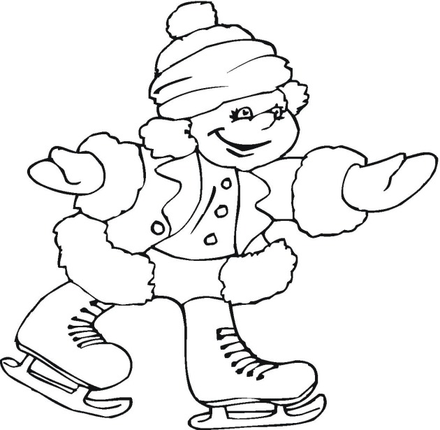 Ice Skating Printable Coloring Pages Skating Coloring Pages