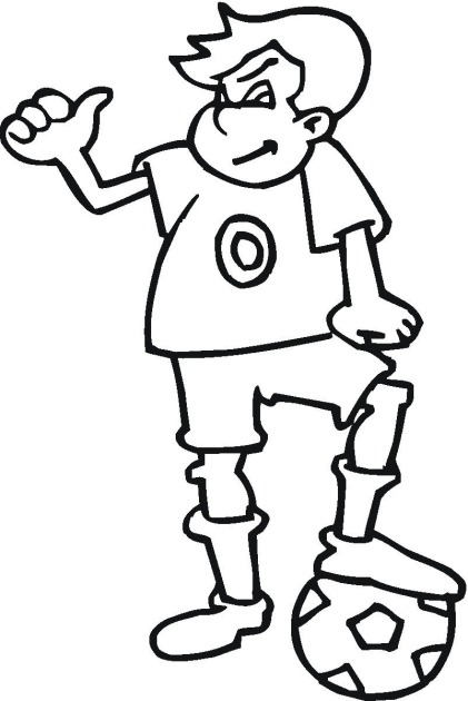 free soccer coloring pages