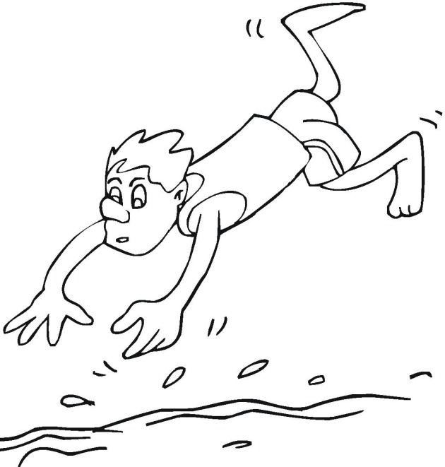 coloring pages swimming - photo#12