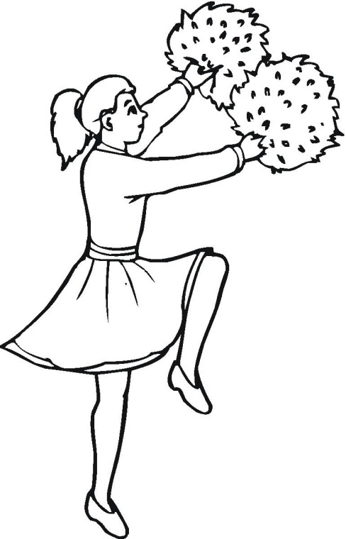 Cheerleaders Coloring Pages Images