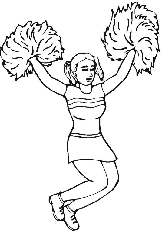 Modern Coloring Pages Of Cheerleading Stunts Embellishment ...