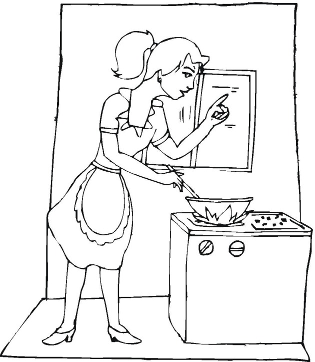 Free Cooking Coloring Pages