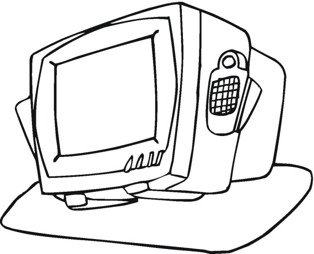 Tv Coloring Page Coloring Pages Ideas Reviews Tv Coloring Pages