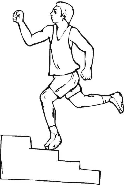 Free Exercise Coloring Pages