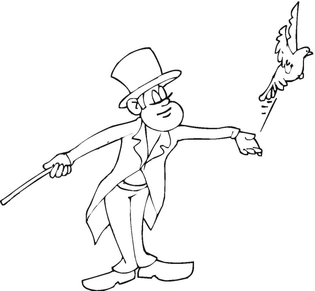 coloring pages magician - photo#21
