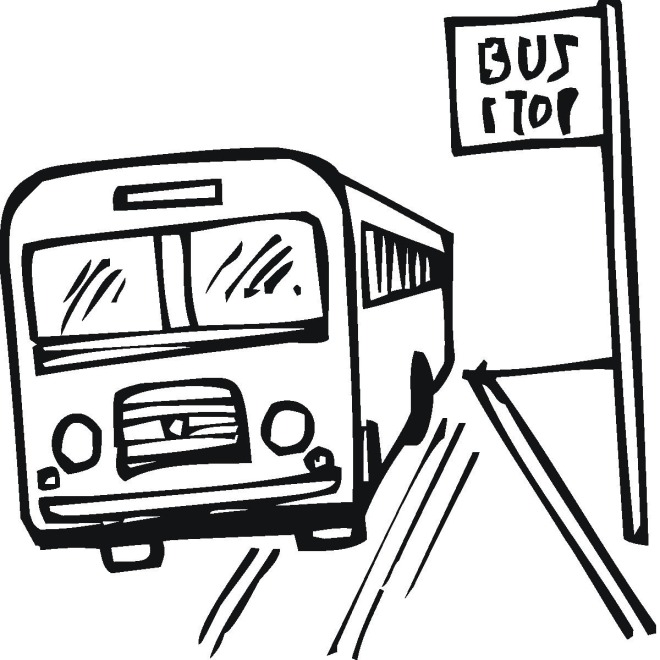 Free Bus Coloring Pages
