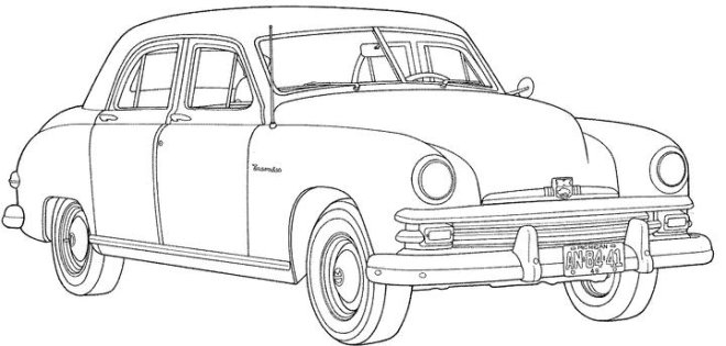 Old Car Coloring Pages - Malikna.net