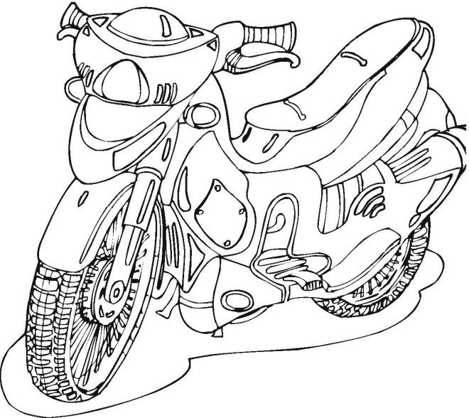 Раскраски для мальчиков мотоциклы - 2