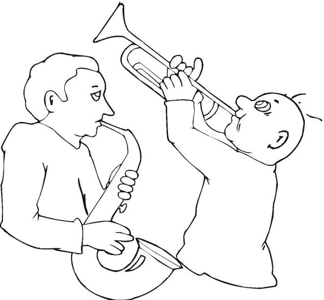Colorea a unos músicos