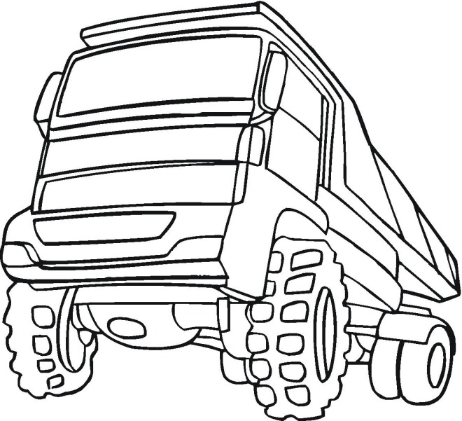 big truck printables coloring pages - photo#12