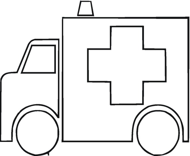 ambulance coloring page click to print image only without ads - Ambulance Coloring Pages Print