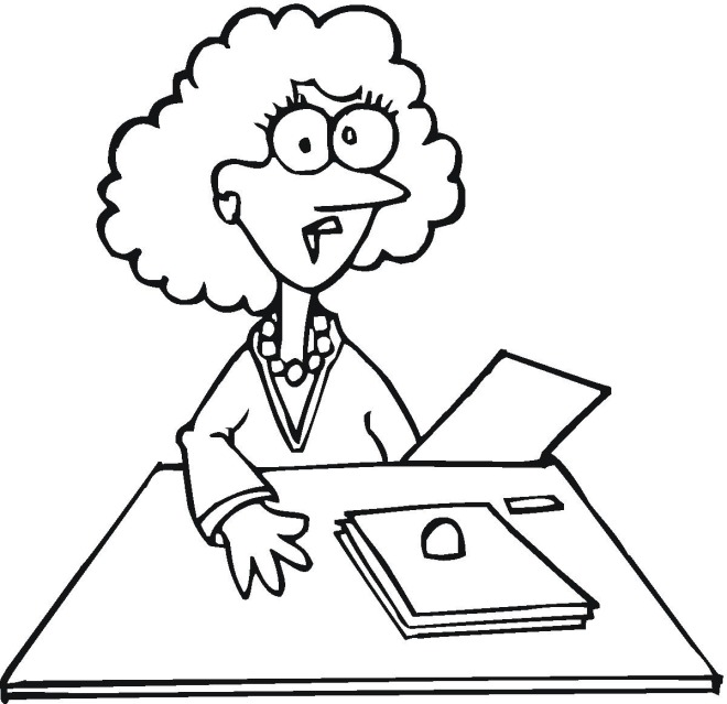 office adminstator coloring pages - photo#24