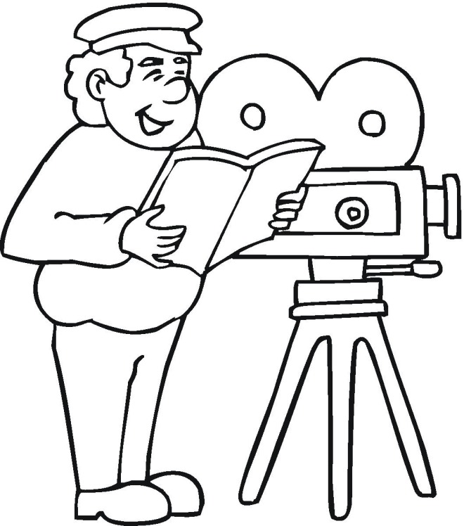 movie camera coloring pages