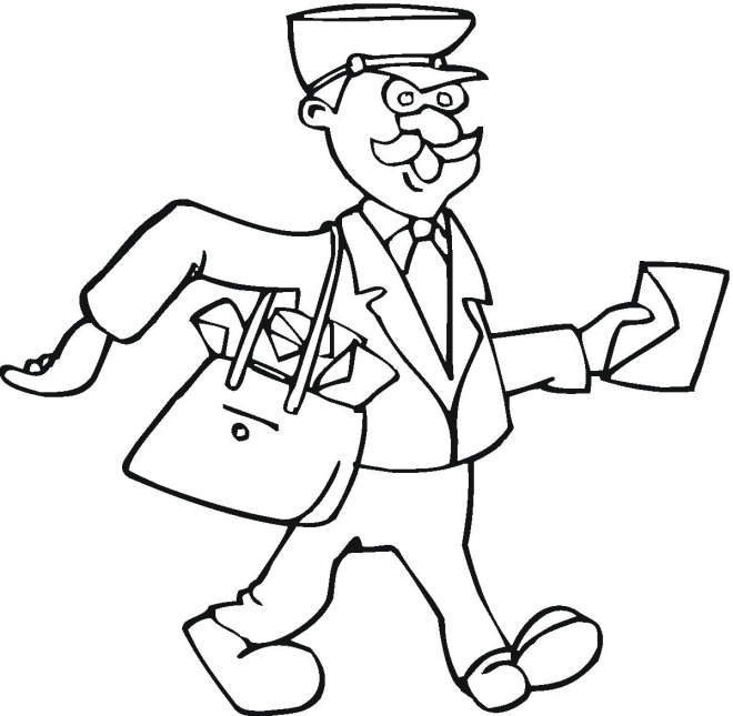 Mailman coloring pages printable coloring pages for Mailman coloring pages