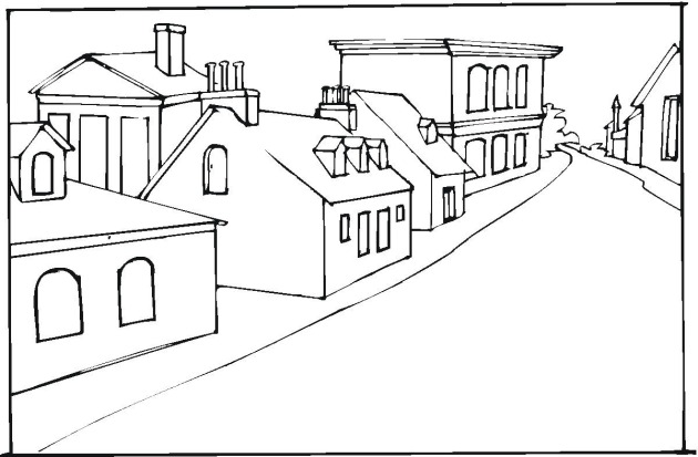 Free Coloring Pages Of Buildings