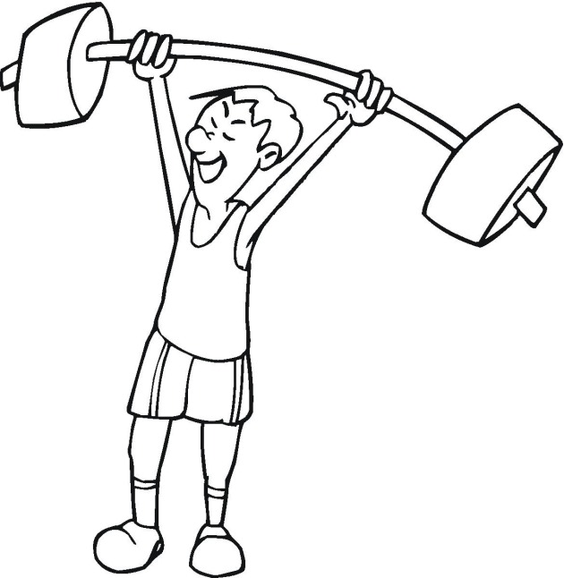 exercise print out coloring pages - photo#25