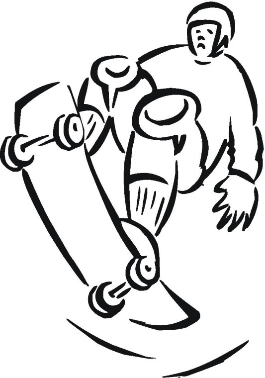 free skateboarding coloring pages