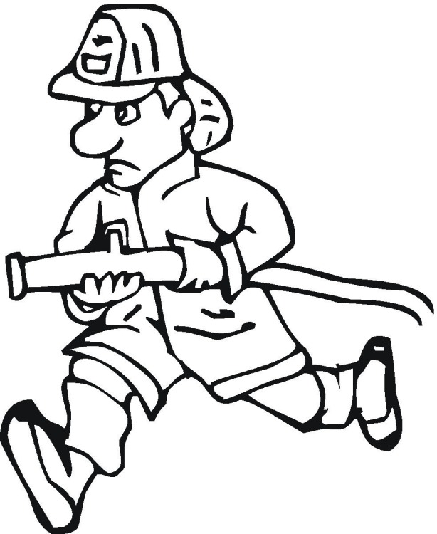 Firefighter Coloring Pages: Fireman And Policeman Coloring Pages